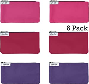 Reusable Snack Bags Pink, Rose, Purple: 6 Pack Snack Bag Set Lunch Baggies for Kids and Adults, Dishwasher Safe, Eco Friendly Fabric Snackbags, Kid Friendly, Washable Storage Food Bags With Zipper…