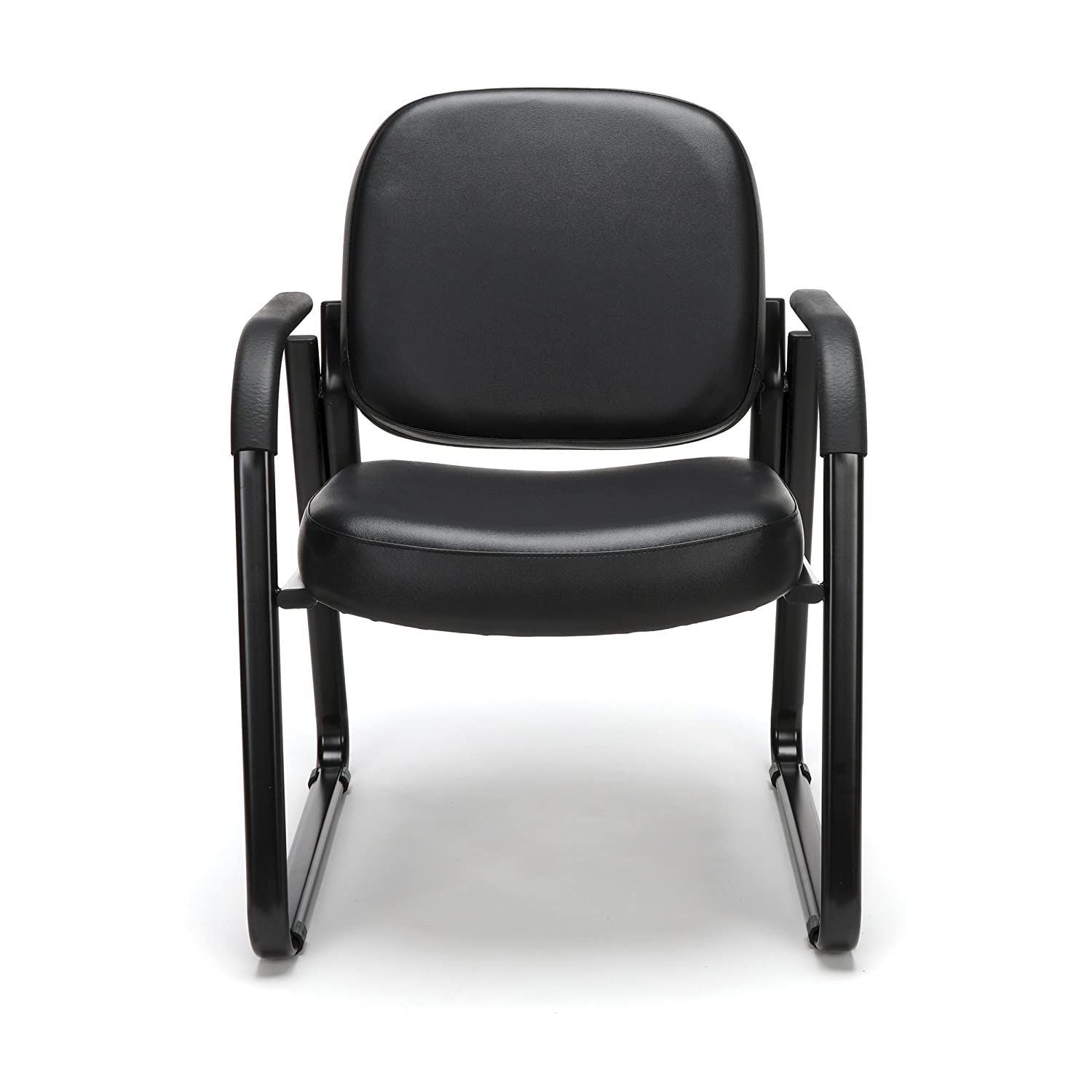 OFM Model 403-VAM Guest and Reception Chair with Arms, Anti-Microbial Anti-Bacterial Vinyl, Black