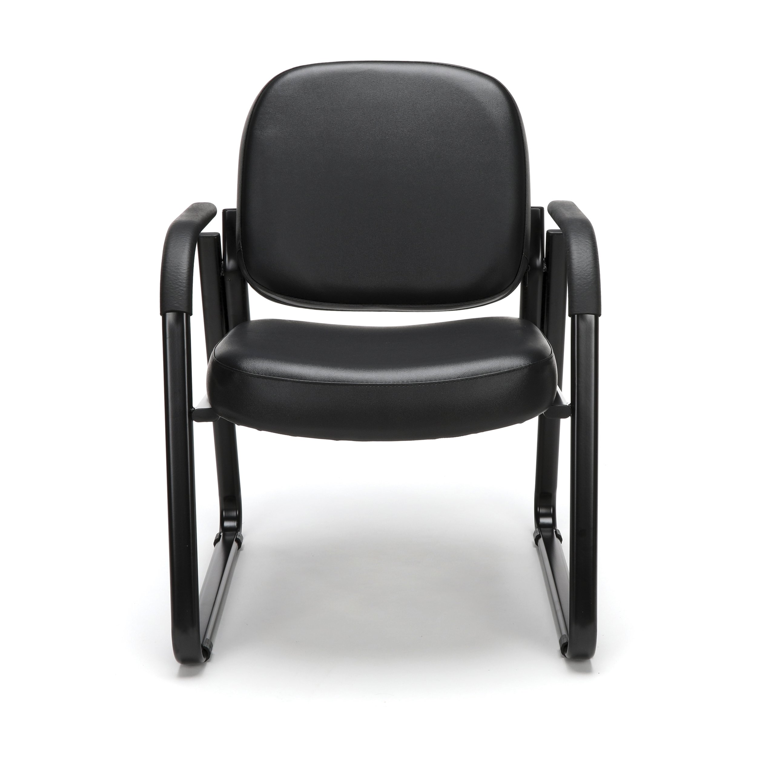 OFM Model 403-VAM Guest and Reception Chair with Arms, Anti-Microbial/Anti-Bacterial Vinyl, Black by OFM (Image #2)