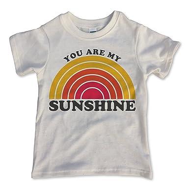 aae70ed3c934 Amazon.com: Rivet Kids Girls' You are My Sunshine T-Shirt White ...