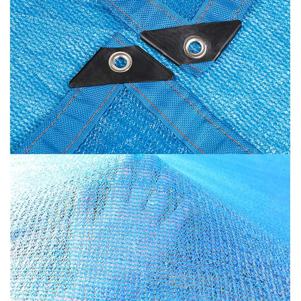 Azul tama/ño m/últiple Opcional Planta Resistente a los Rayos UV//Terraza//Invernadero//Flor//jard/ín Sombra Tela Solar Malla Malla Bloqueador Solar tasa Neta de 85/% de Ojales de Sombra