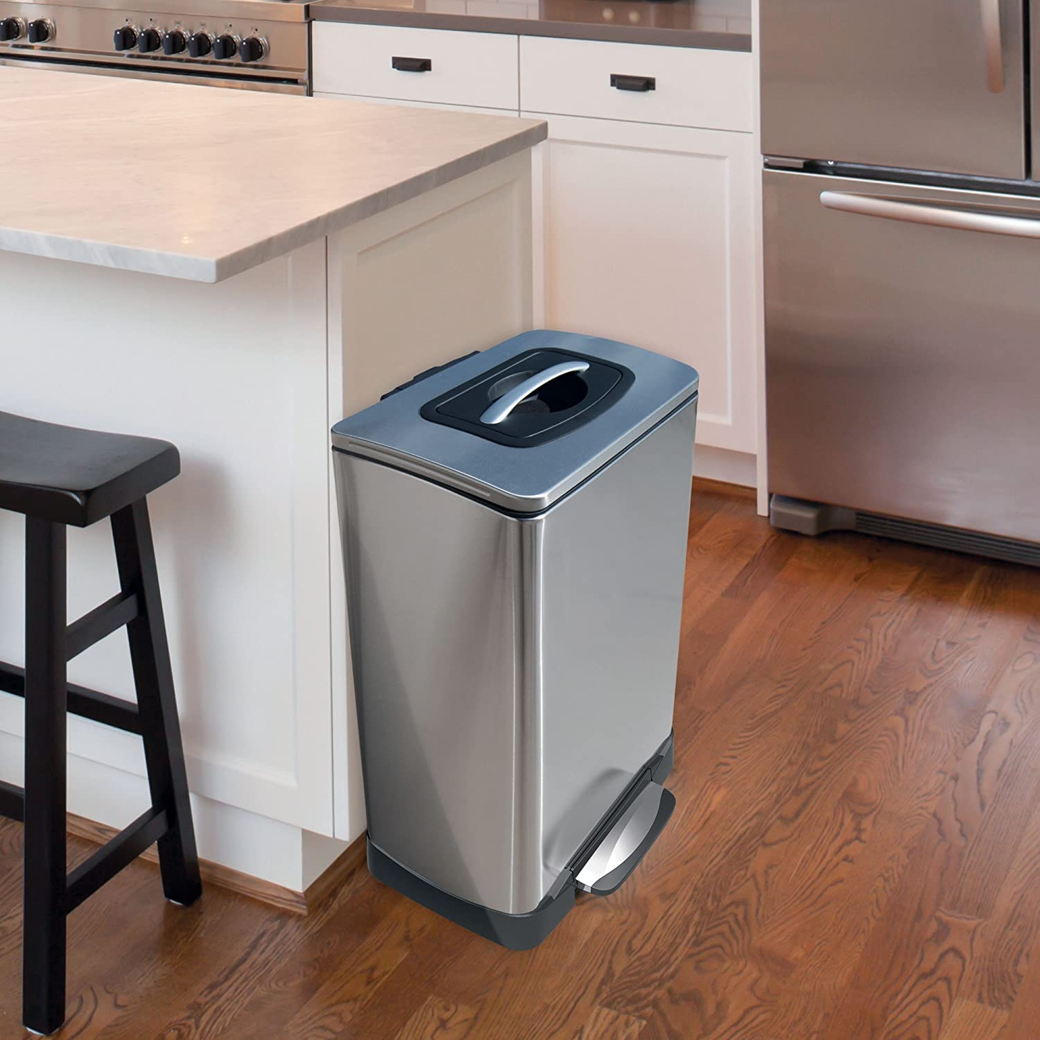 Amazon.com: Household Essentials Trash Krusher Manual Trash Compactor, 40  L, Stainless Steel: Home U0026 Kitchen