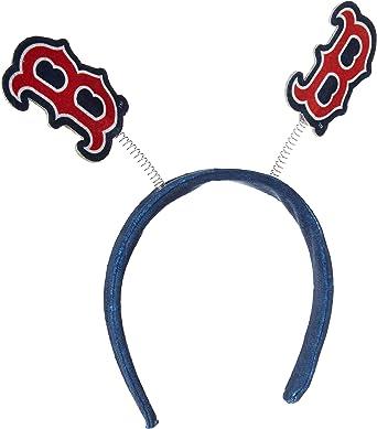 FOCO MLB Boston Red Sox Mens Springy Ears HeadbandSpringy Ears Headband, Team Color, One Size