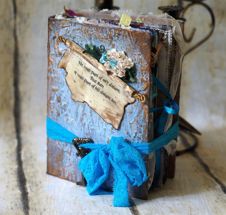 Alice in Wonderland Wedding Guestbook - Fairy tale Scrapbook - Storybook - fairytale Guest book - Cinderella Pale Baby Blue - Photo Book