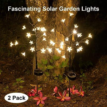 NEW 20 LED LIGHT OUTDOOR SOLAR STRING LIGHTS DECORATIVE PATIO DECK HOME DECOR