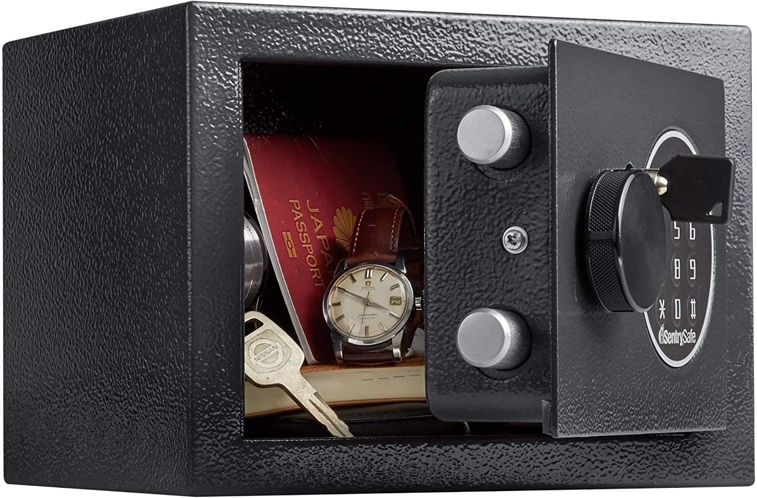 18w x 16d x 9h Black Sentry Safe X041E Electronic Lock//Card Swipe Security Safe 1.1 ft3