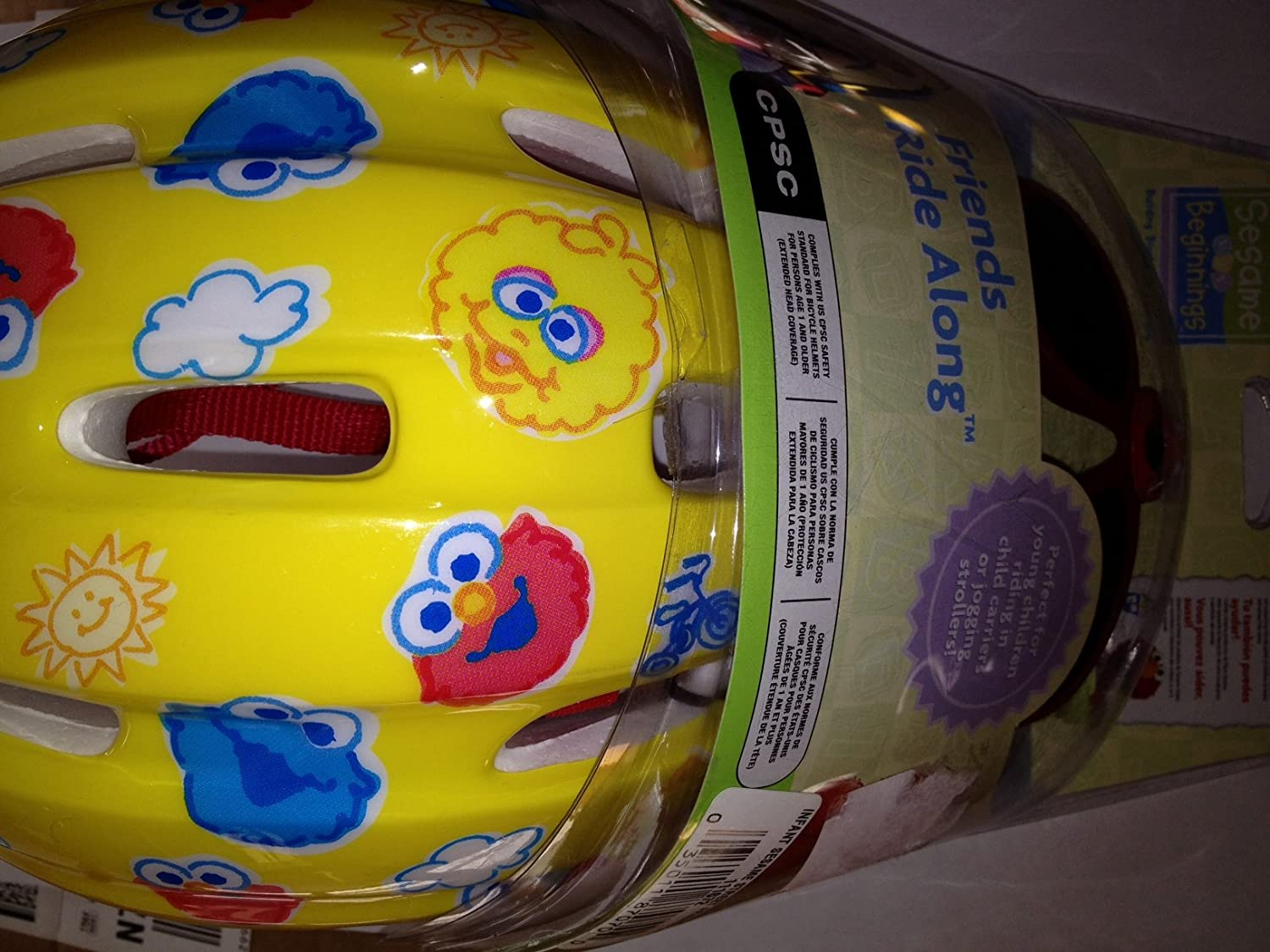 Amazon.com : Bell Sesame Street Helmet with Elmo Sunglasses Friends Ride Along Sesame Beginnings : Bike Helmets : Sports & Outdoors