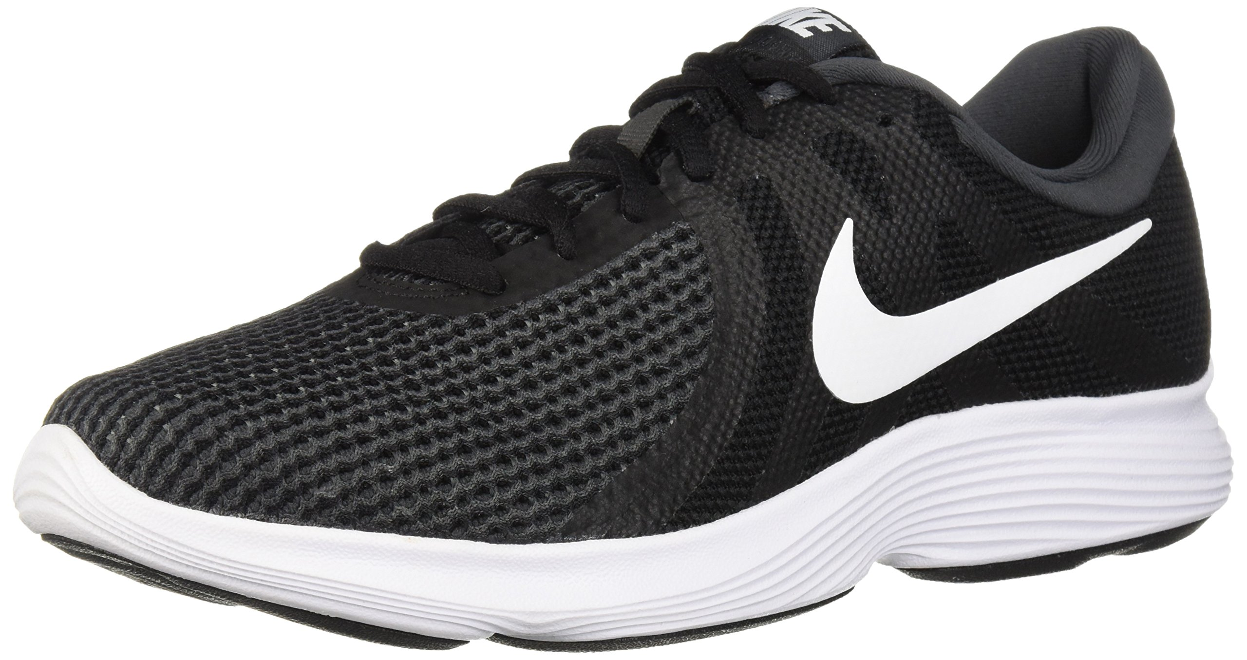 NIKE Men's Revolution 4 Running Shoe, Black/White-Anthracite, 10 Regular US by NIKE