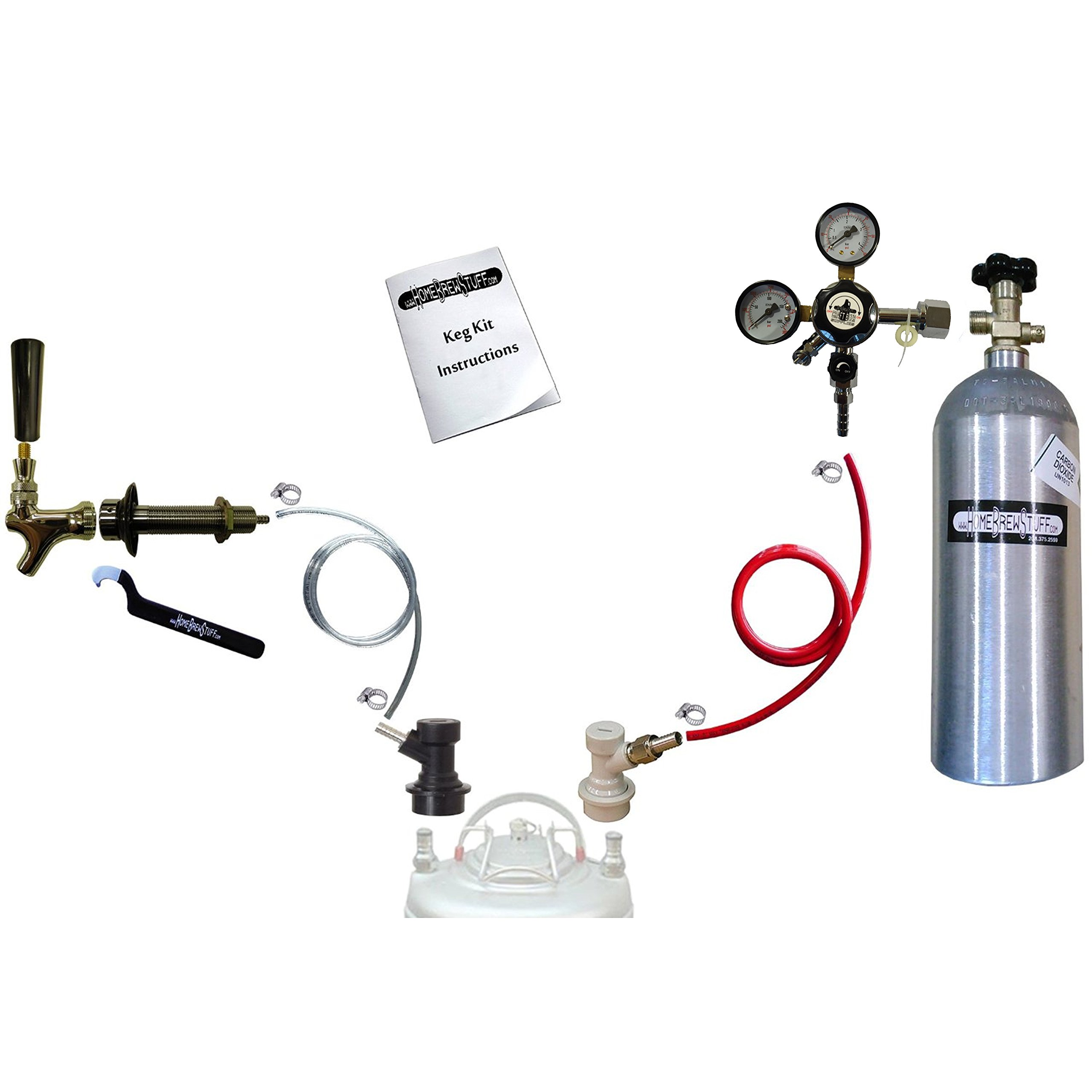 Homebrew Kegerator Conversion Kit with 5 LB Co2 Tank