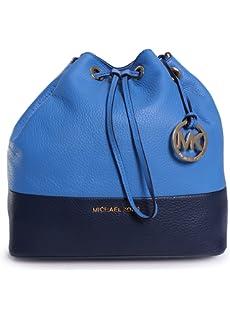 0e4ab4623e7 Michael Kors Jules Large Colorblock Drawstring Shoulder Bag Heritage  Blue navy