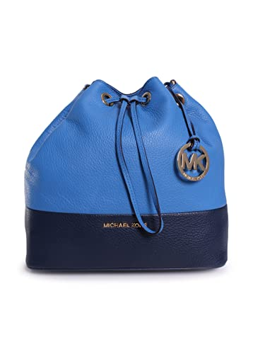 8ab768428f9a Image Unavailable. Image not available for. Color: Michael Kors Jules Large  Colorblock Drawstring Shoulder Bag Heritage Blue/navy