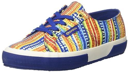 Superga S00BQ90, Sneakers Basses FemmeMulticoloreMulticolore (Multicolor Blue A43), 37 EU EU