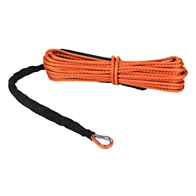 "Extreme Max 5600.3203 ""The Devil's Hair"" ATV / UTV Winch Rope, Orange: Automotive"