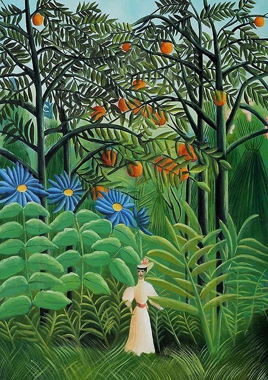 Resultado de imagen de mujer paseando en bosque exótico rousseau