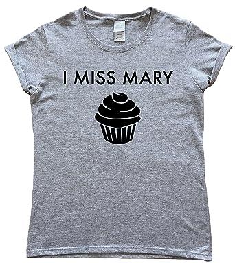 ec158814 I Miss Mary Baking Ladies T-Shirt: Amazon.co.uk: Clothing