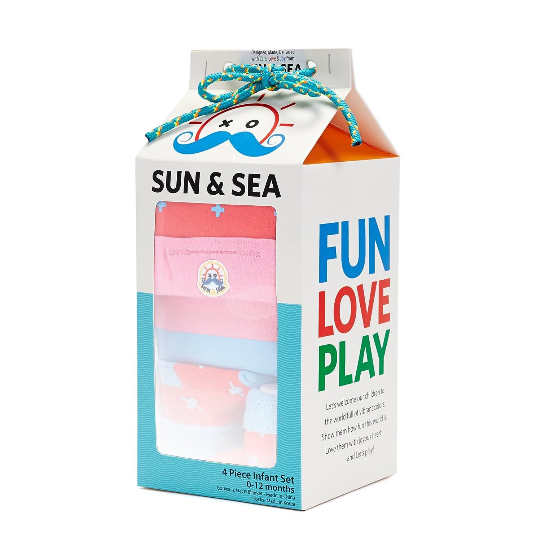 SUN/&SEA Baby Layette 4 PC Set Aubrey