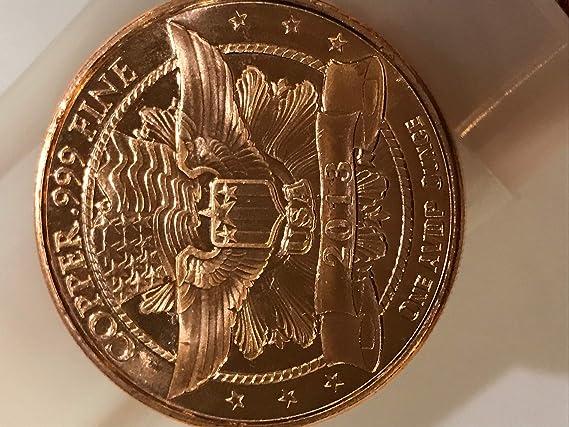 Brilliant Uncirculated 1-1 oz .999 Silver Round Lincoln Wheat Cent