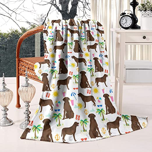 """Pet Central Pet Fleece Throw 50x60"""" Beige w// White And Brown Terrier Dogs NEW!"""
