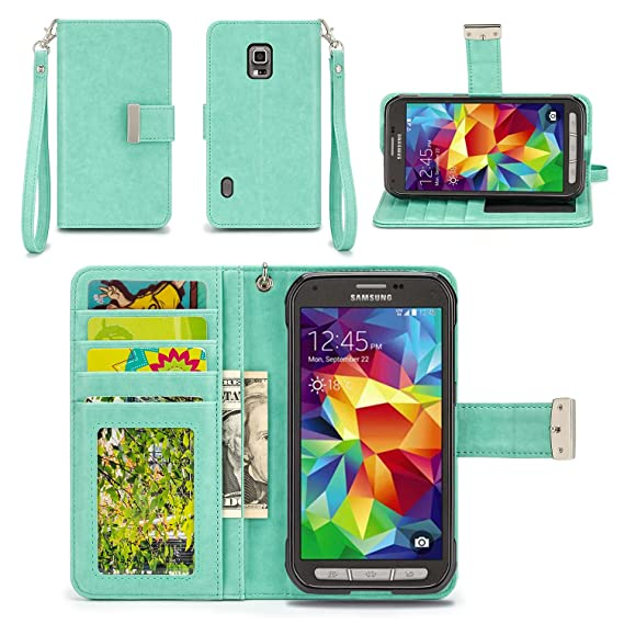 amazon com izengate samsung galaxy s5 active (sm g870a) wallet caseimage unavailable image not available for color izengate samsung galaxy s5 active (sm g870a) wallet case