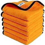 MR.SIGA Toallas profesionales de microfibra premium para limpieza del hogar y lavado del coche, toallas de doble cara para au