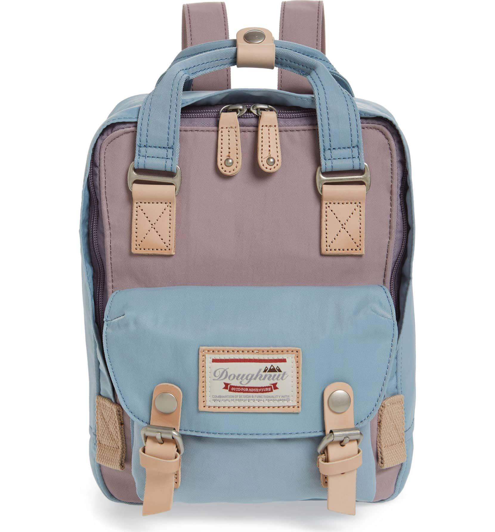 Doughnut Women's Mini Macaroon Backpack (One Size, Lilac/Light Blue)