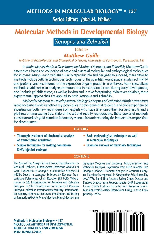 Molecular Methods in Developmental Biology. Xenopus and Zebrafish