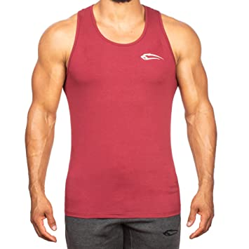 SMILODOX Tank Top Hombres | Camiseta muscular con logotipo para el deporte Gym fitness y culturismo