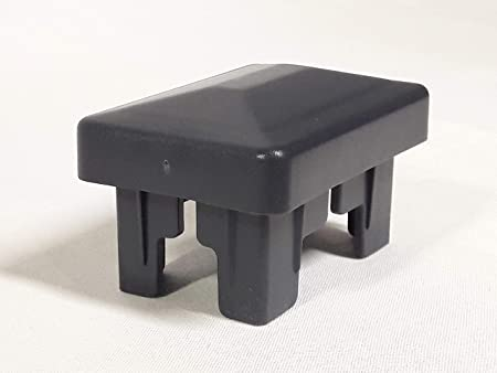 OuM Lot de 5 capuchons de poteau carr/és Noir 15 x 15 mm