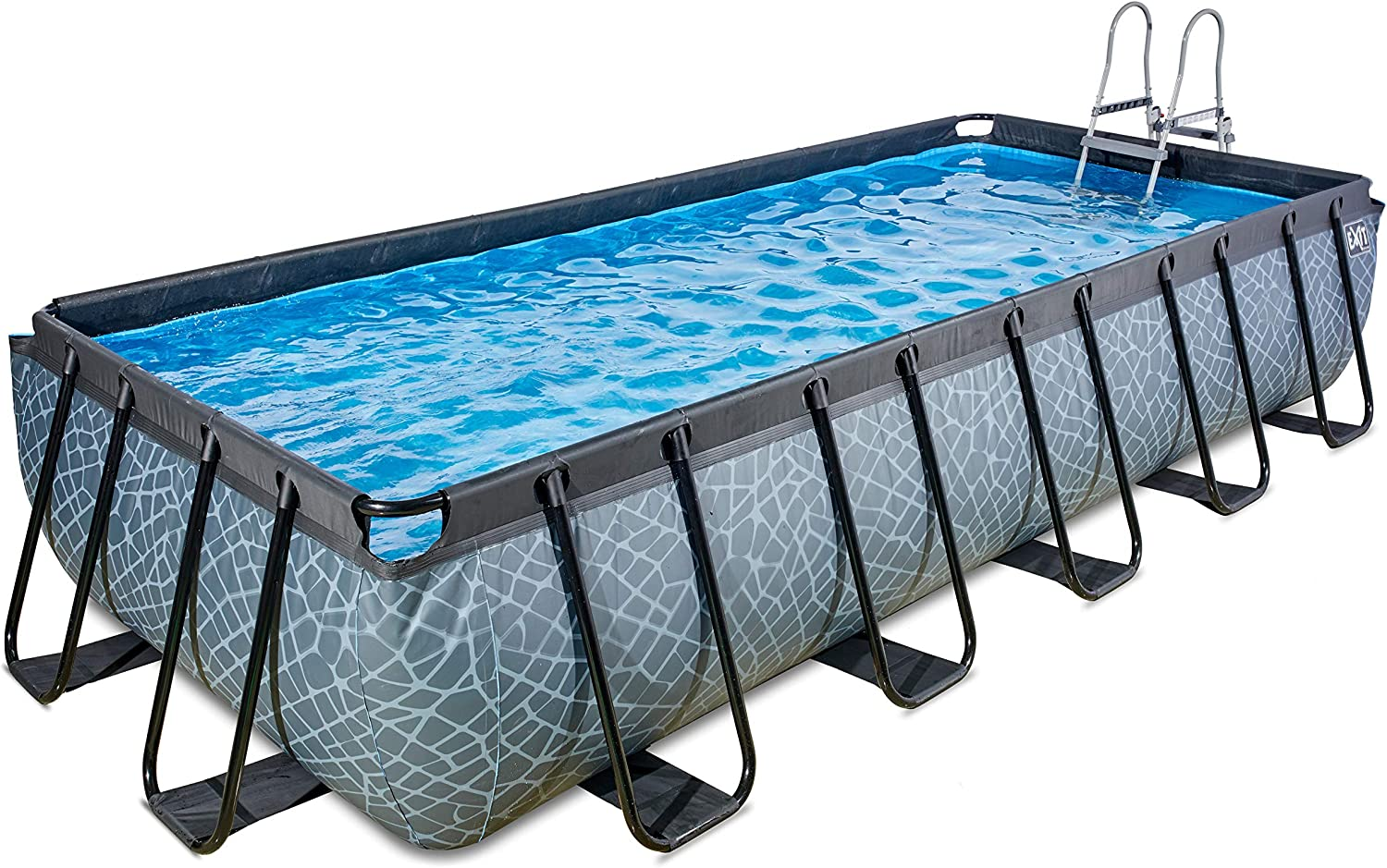 EXIT Stone Pool 540x250 cm with Sand Filter Pump - Grey - Piscina ...