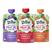 Zellee Organic Fruit Jel Pouches | Variety Pack | 12 pack | Immunity Boosting Vitamins...