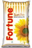Fortune Sunlite Refined Sunflower Oil, 1L