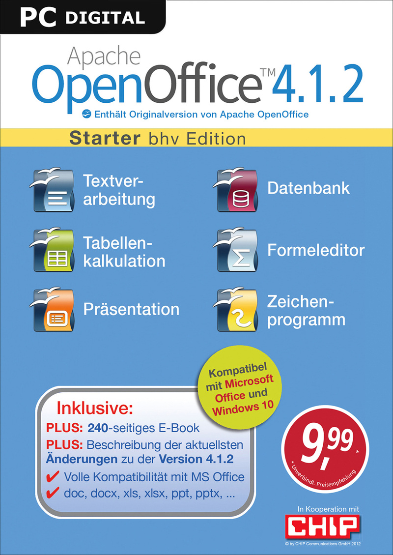 Apache Openoffice 4 1 2 Starter Download Amazon De