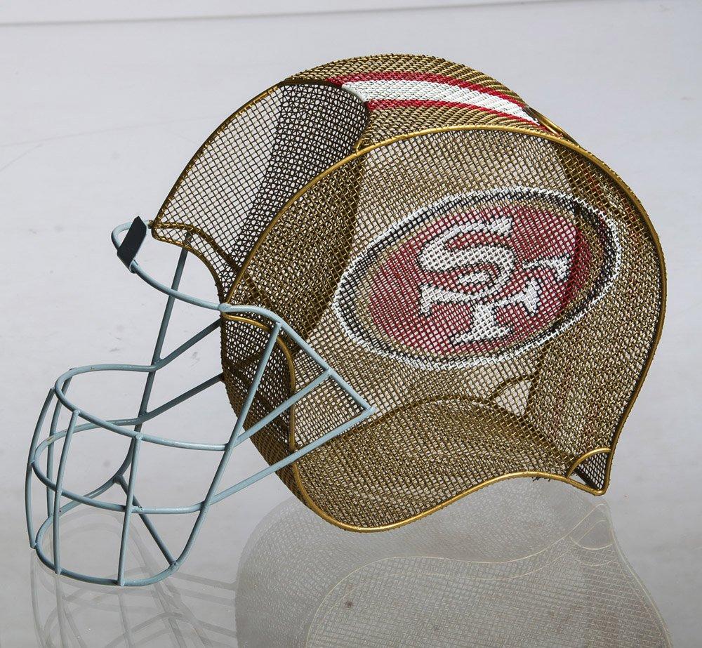 Team Sports America San Francisco 49ers Football Helmet Bottle and Cork Cage Holder
