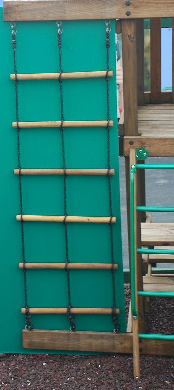amazon com swing set playset wood 2 ropre climbing ladder for