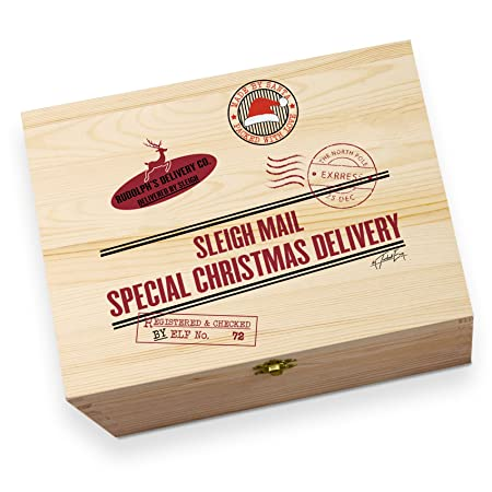 rustic vintage sleigh mail special delivery wooden printed christmas eve box - Does Mail Get Delivered On Christmas Eve