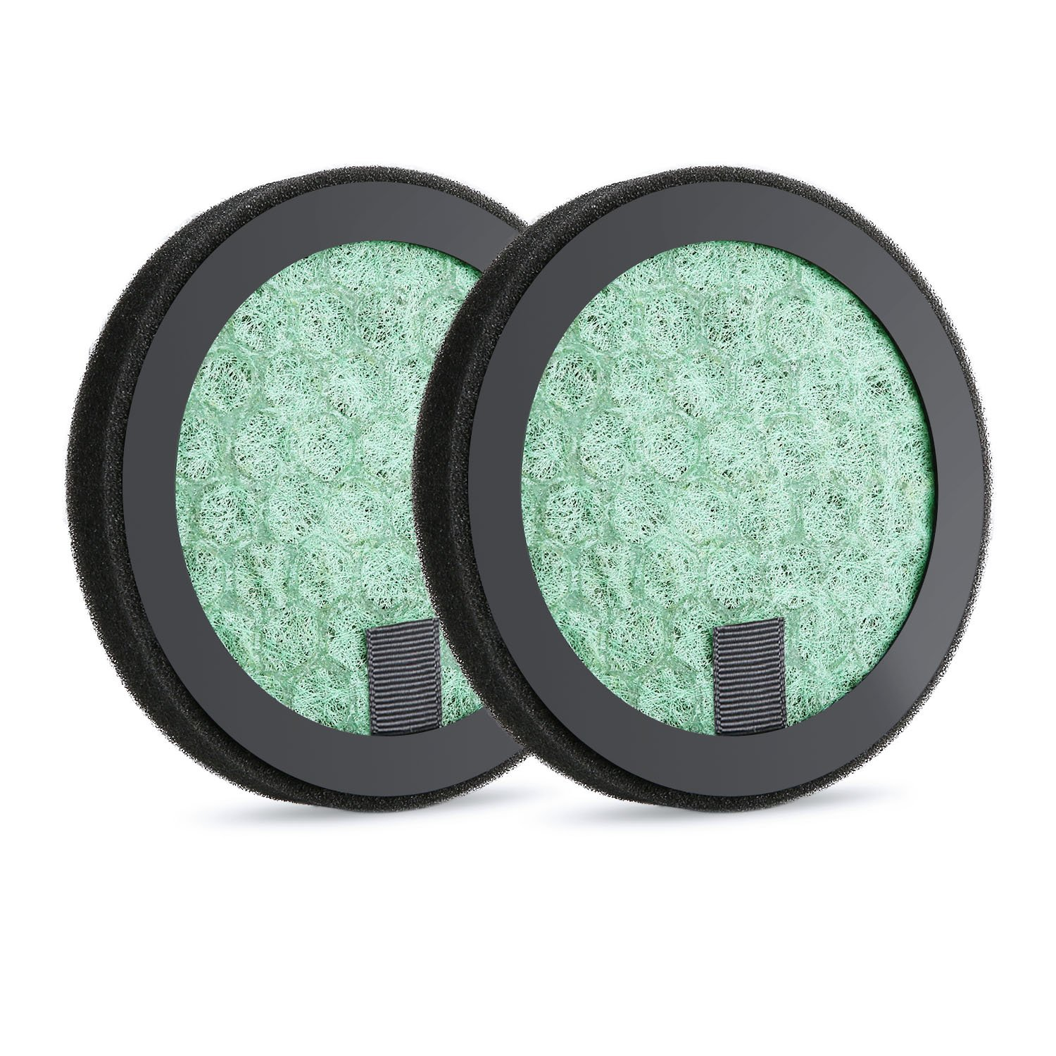 NATOL Car Air Purifier Filter, True HEPA Activated Carbon Replacement Filter, 2 Pack