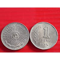 Argentina , Sun GOD - 1 Peso 1974-1976 Aluminium-Bronze • 5 g • ⌀ 22.3 mm CIRCULATED Condition