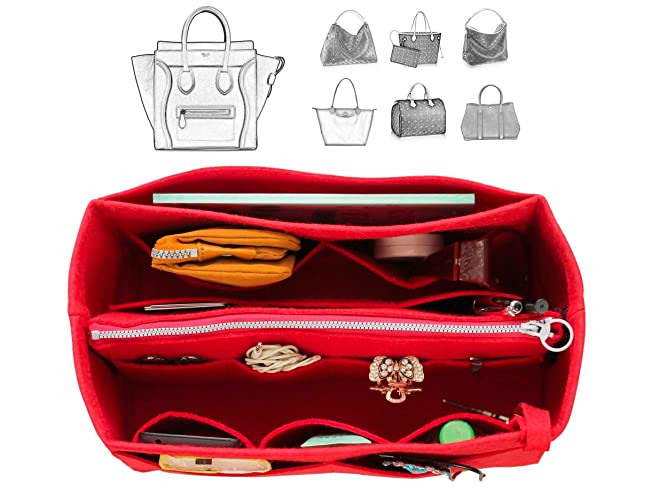 Amazon.com   Fits Ce.line Bags  Felt Tote Organizer (w Detachable ... c0d12ca6ec01