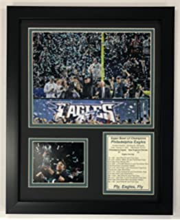 Amazon the philadelphia inquirer newspaper frame with legends never die nfl philadelphia eagles super bowl 52 champions framed photo collage team color solutioingenieria Images