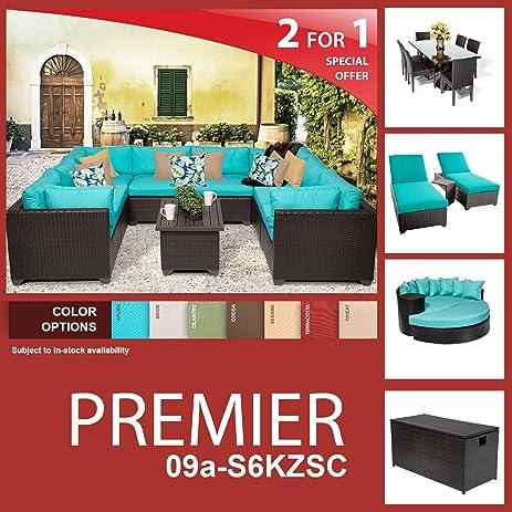 amazon com premier 22 piece outdoor wicker patio furniture package rh amazon com outdoor furniture package deals outdoor furniture package