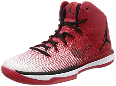 free shipping eb4b8 c60d5 Image Unavailable. Image not available for. Color  Nike Mens Air Jordan XXXI  Basketball Shoes Varsity Red Black White ...