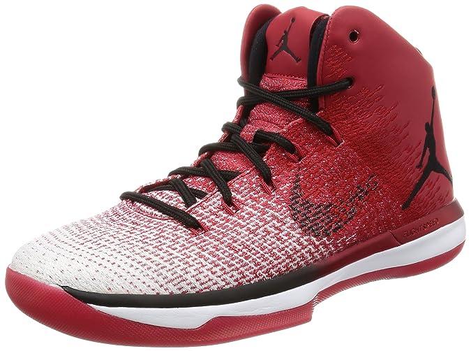 a776d6b8489 Amazon.com | Nike Mens Air Jordan XXXI Basketball Shoes Varsity  Red/Black/White 845037-600 Size 8.5 | Basketball