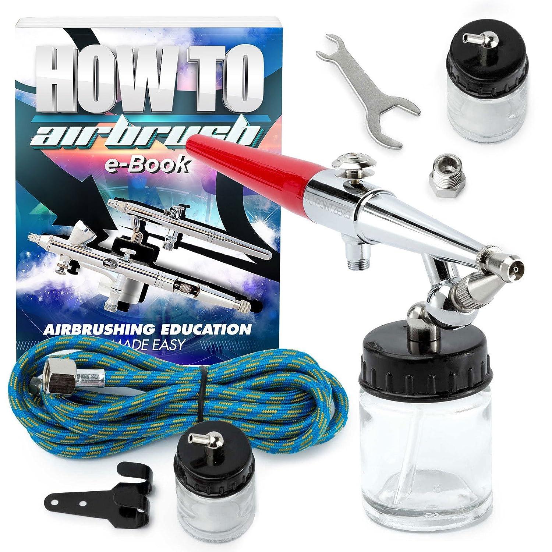 PointZero Premium Single Action 22cc Siphon Feed Airbrush Set - .8mm PointZero Airbrush