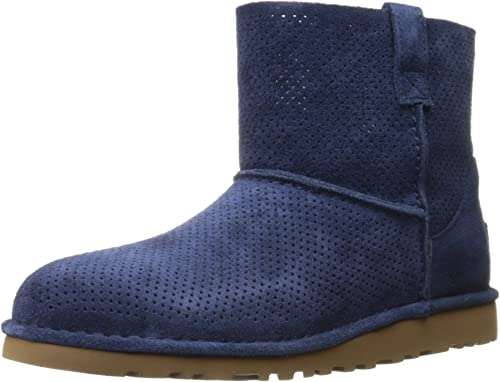 UGG Damen Classic Unlined Mini Perf Winterstiefel, blau