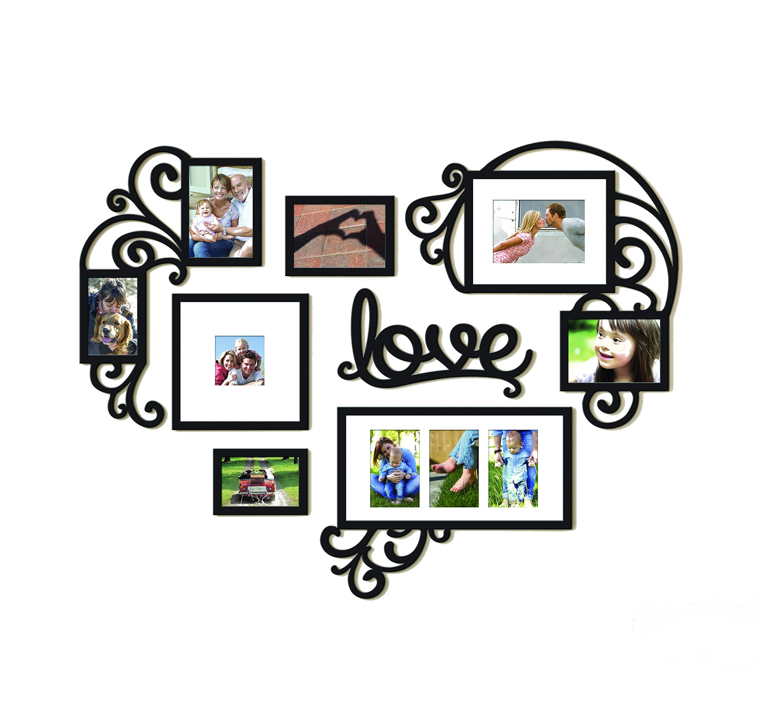 Picture Frame Set of Love Heart on Wall Art Decoration Sticker in Family Living Room and Bedroom (Love Heart)