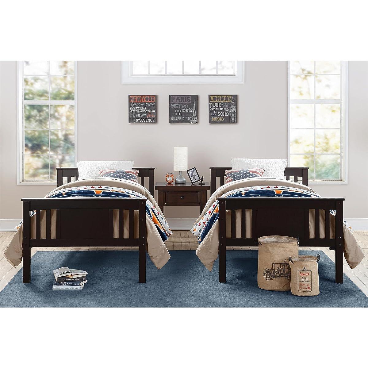 Dorel Living Dylan Bunk Bed, Twin, Espresso