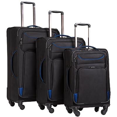Coolife Luggage 3 Piece Set Suitcase Spinner Softshell lightweight
