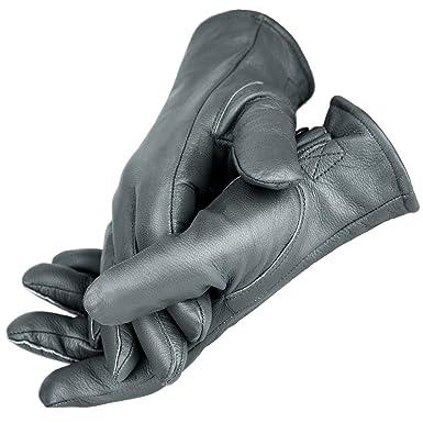 0a76b1c46b7099 BW Handschuhe für Damen und Herren Lederhandschuhe gefüttert BlackSnake® - S  - Grau