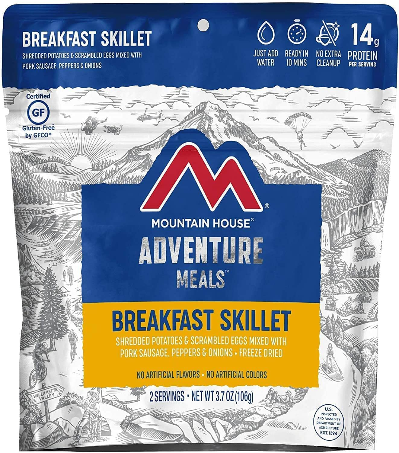 Mountain House Breakfast Skillet | Freeze Dried Backpacking & Camping Food | Survival & Emergency Food 1 Pack