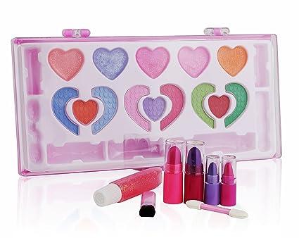 Pinkleaf Kids Makeup Kit for Girl, Washable Kid's Makeup Palette Cosmetics Gift Set, All